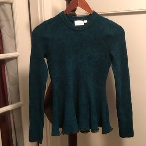 New Anthropologie Ett:twa knit top blue teal XS